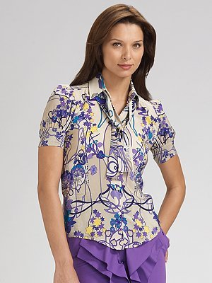 Red Valentino Liberty Printed Blouse