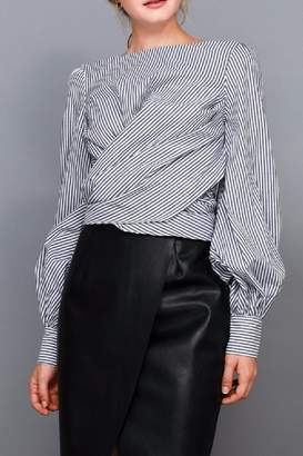 Do & Be Stripe Tie Shirt