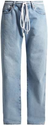 Low-slung boyfriend denim jeans