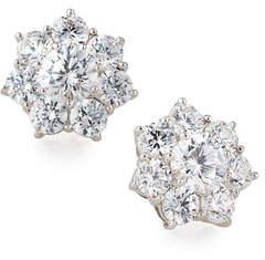 FANTASIA Flower CZ Crystal Stud Earrings
