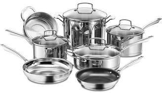 Cuisinart Professional Series Stainless Steel 11-Piece Cookware Set