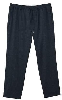 Mango man MANGO MAN Linen fine-stripe suit trousers