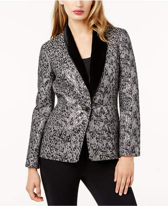 Sachin + Babi Sb by Velvet-Trim Metallic Blazer, Created for Macy's