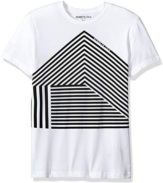 Kenneth Cole New York Men's Geo Graphic Tech Tee