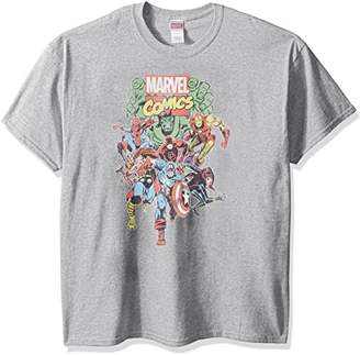 Marvel Men's Comics Vintage Group T-Shirt