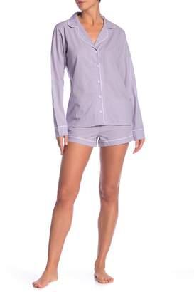 UGG Cassandra Windowpane Check Pajama 2-Piece Set