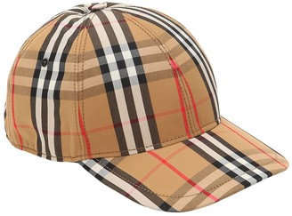 611829926ee Burberry Vintage Check Cotton Baseball Cap