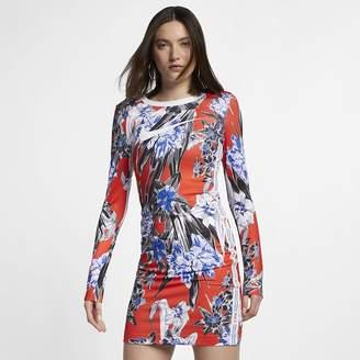 Nike Women's Long-Sleeve Floral Dress Sportswear