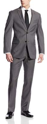 Tommy Hilfiger Men's Nathan Gray-Stripe Two-Button Side-Vent Suit
