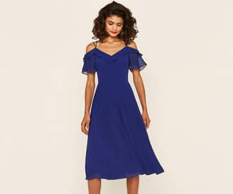 Oasis CHIFFON PLEATED DRESS