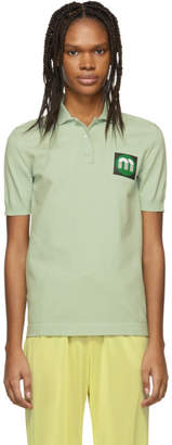 Miu Miu Green Logo Patch Polo