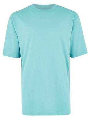 Topman Mens Aqua Blue Oversized T-Shirt