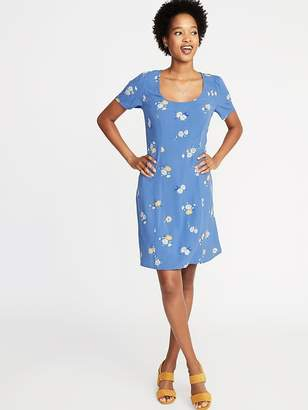 Old Navy Floral-Print Fit & Flare Dress for Women