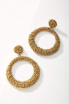 Deepa Anya Beaded Hoop Drop Earrings