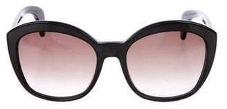 Bottega Veneta Acetate Oversize Sunglasses