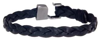 LINK-UP Braided Leather Hook Bracelet