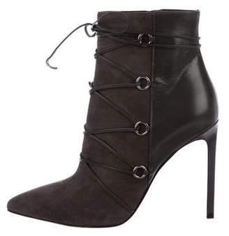 Saint Laurent Suede Wrap-Around Boots