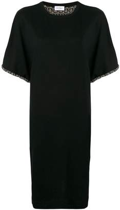 Salvatore Ferragamo contrast trim shift dress
