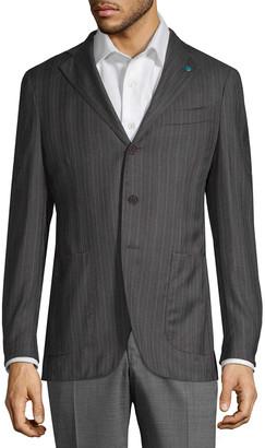 Eidos Pinstripe Wool Sportcoat