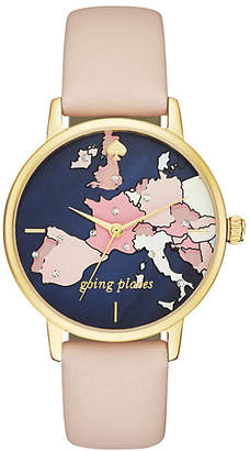 Kate Spade Metro going places vachetta leather watch