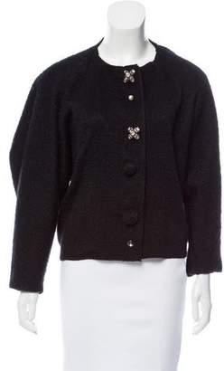 Lanvin Embellished Scoop Neck Jacket