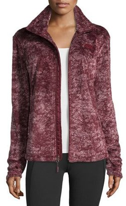 The North Face Novelty Osito Fleece Sport Jacket, Deep Garnet Red Marble $110 thestylecure.com
