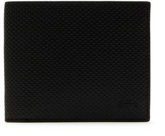Lacoste Men's Chantaco Matte Pique Leather Three Card Wallet