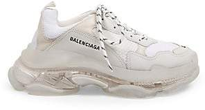 Balenciaga Men's Triple S Clear Sole Sneakers