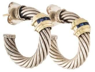 David Yurman Cable Sapphire Hoop Earrings