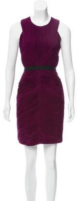 Burberry Pleated-Accented Mini Dress