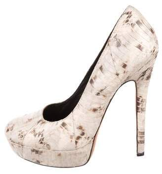 House Of Harlow Snakeskin Platform Pumps