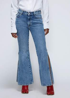 Maison Margiela Cropped Slit Flare Denim