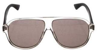 Gucci Tinted Web-Trimmed Sunglasses w/ Tags