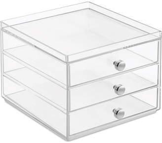 InterDesign Slim 3-Drawer Makeup Organizer, Clear Bedding