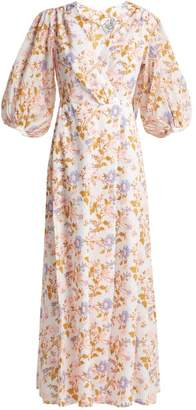 Thierry Colson Phoebe Floral Print Cotton Maxi Dress - Womens - Pink White