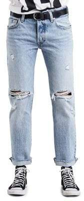 Levi's 501 Mid-Rise Cropped Jeans Crazy Cool