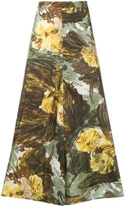 Cavallini Erika Fantasia-print silk skirt