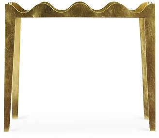One Kings Lane Ruffle Side Table - Gold