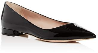 Giorgio Armani Women's Patent Leather Pointed Toe Ballet Flats