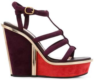 Alexander McQueen strappy wedge sandals