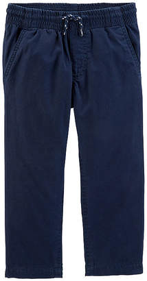 Carter's Lined Pull-On Poplin Pants - Toddler Boy
