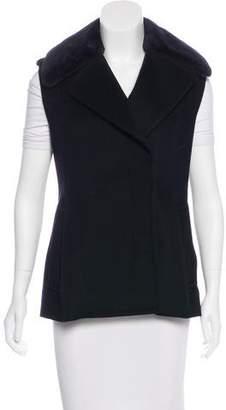 Reed Krakoff Fur-Trimmed Cashmere & Wool Vest