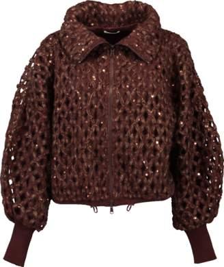 Brunello Cucinelli Luxury Net Zip Jacket
