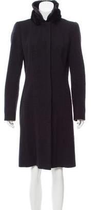 Andrew Gn Wool Mink-Trimmed Coat