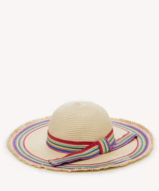 Sole Society Women's Floppy Sun Hat With Rainbow Band Multi One Size From