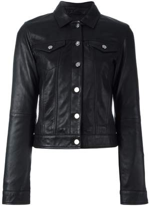 CK Calvin Klein buttoned leather jacket
