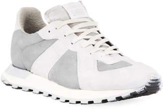 Maison Margiela Men's Replica Runner Leather & Suede Sneakers