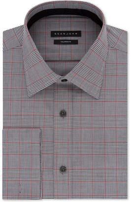 Sean John Men's Classic/Regular Fit Check French Cuff Dress Shirt