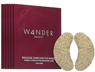 Wander Beauty Baggage Claim Gold Eye Mask 6 Pack