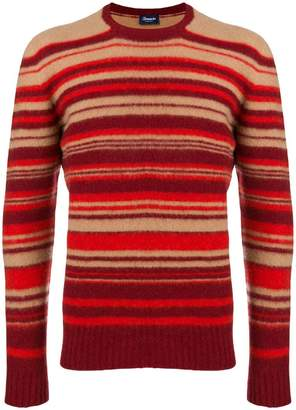 Drumohr striped slim-fit sweater